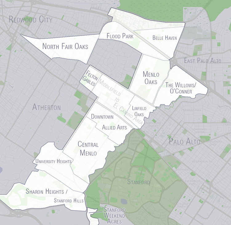 Menlo Park Neighborhoods